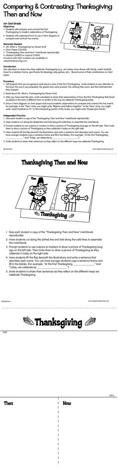How is the First Thanksgiving different from today's modern celebrations? With this lesson plan, students find out as they compare and contrast using a Venn diagram!