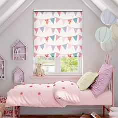 Indulge your sweet side with the Lollipop Flower roller blind. With a delightful array of candy tones, this blind will pack a punch and bright a new lease of life to your windows. Room Makeover, Room, Bedroom Blinds, Rainbow Room, Girl Room, Roman Blinds, Pink Roman Blinds, Blinds, Kid Room Decor