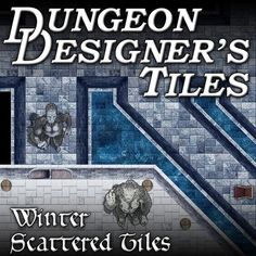Frozen Winter Keep map tiles for Virtual TableTops