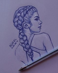 Pen Sketch III - Day # 83 by AngelGanev Best Picture For drawing sketches ballerina For Your Taste Y Girl Drawing Sketches, Girly Drawings, Cool Art Drawings, Pen Sketch, Pencil Art Drawings, Kawaii Drawings, Manga Drawing, Cartoon Drawings, Easy Drawings