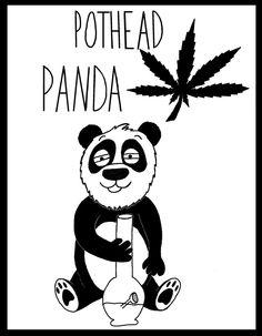 What's better than a pothead? A pothead panda.   #peace #love #hippy #stoner #panda #weed #bong