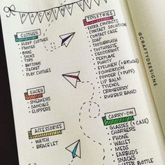 Awesome packing list from @craftydeesigns