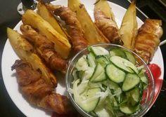 Tejfölös-mustáros csirkemell sült krumplival ubi-salival