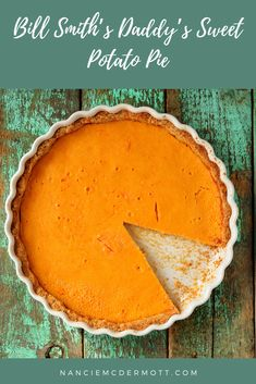 One mighty fine sweet potato pie, made with a family recipe shared with me by Chef Bill Smith of Crook's Corner in Chapel Hill, NC. Sweet Potato Biscuits, Sweet Potato Pancakes, Potato Pie, Jello Recipes, Pie Recipes, Dessert Recipes, Chapel Hill, 1950s Food, Best Comfort Food