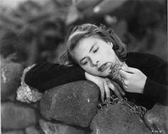 Portrait of Ingrid Bergman  in Stromboli directed by Roberto Rossellini, 1949
