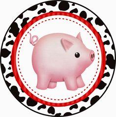 Farm Birthday, Boy Birthday Parties, Animal Hand Puppets, Wild West Theme, Baby Farm Animals, Candy Bar Labels, Pig Illustration, Barn Parties, Free Printable Invitations