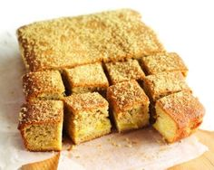 Apple and cinnamon tray bake recipe - we want to try this warm with hot custard