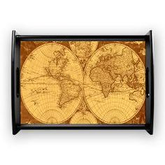 Exquisite Antique Atlas Map Coffee Tray> Exquisite ancient world atlas> Victory Ink Tshirts and Gifts