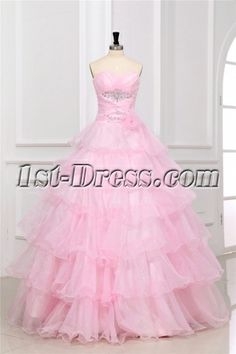 Pink Long Masquerade Dresses for Prom:1st-dress.com