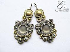 Editgyöngyei: november 2016 Soutache Earrings, Drop Earrings, Pastel Blue, Ring Necklace, Shibori, Beaded Embroidery, Jewelery, Jewelry Making, My Style