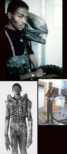 "Rare Photos of the 7 Foot Tall Nigerian Actor Who Wore the Monster Costume in The Movie ""Alien"". Meet Bolaji Badejo."
