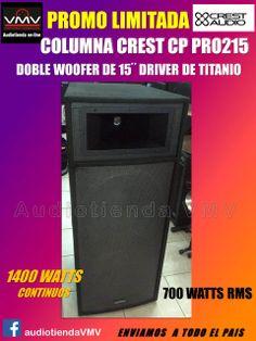 """Columnas Crest 15"""" doble woofer"""