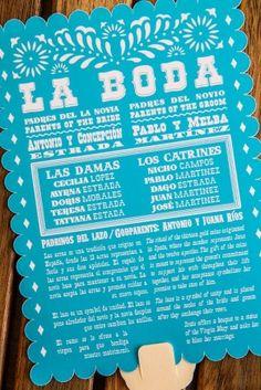 Invitación muy mexicana. Estilo papel picado