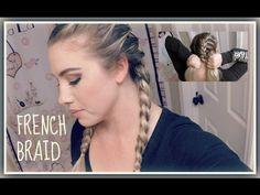 How To: Dutch Braid Your Own Hair | Hollie Hobin - YouTube