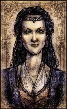 Rowena Ravenclaw by LunaLouise.deviantart.com   ---   People for whom the different houses of Harry Potter were named.