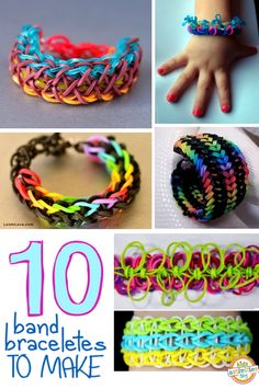 10 band bracelet tutorials for kids - these things are addictive!
