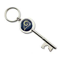 St. Louis Rams Skeleton Key Bottle Opener Keychain