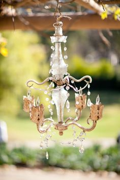 #chandeliers  Floral Design: Dandelion Ranch - dandelionranch.com Photography: Mi Belle Photography - mibellephoto.com Event Design: XOXO BRIDE - xoxobride.com  Read More: http://stylemepretty.com/2012/03/08/ojai-valley-inn-spa-spring-photo-shoot-by-xoxo-bride/