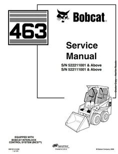 bobcat skid steer 741 742 742b 743 743b workshop service manual rh pinterest com Bobcat 743B Repair Manual Bobcat 743B Glow Plug Location
