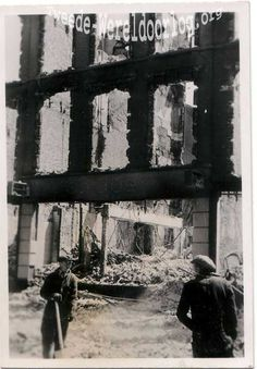 WW2 in the Netherlands - Rotterdam May 14th 1940 - Kruiskade.
