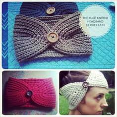 Knitted - Knot knitted headband - Free pattern - Printed