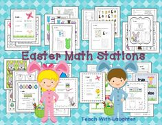 Easter Math Work Stations - ready to use, perfect for your math tubs!