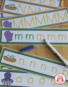 ABC tracing cards. Uppercase and lowercase letter formation and handwriting practice for preschool, pre-k, kindergarten...