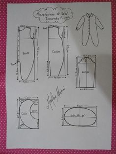 This schemes showing us how to design baby dress size when we trying to make it myself. Baby Dress Patterns, Baby Clothes Patterns, Kids Patterns, Sewing Patterns, Baby Born Clothes, Sewing Baby Clothes, Baby Sewing, Baby Knitting, Crochet Baby