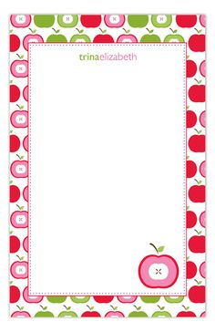 Ripe Apple Notepad-So cute for back to school teacher gift!