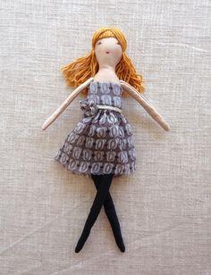 Soft doll in sleeping bag Handmade cloth doll doll by Dollisimo