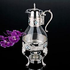 Cam Isıtıcılı Gümüş Sürahi