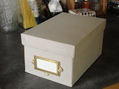 Storage box made from cereal boxes - great tutorial here - with pics