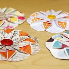 Paper Flower Tutorial {Simple Paper Crafts}  --I am getting ready to make some of these right now!