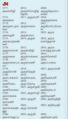 Boy Baby Names In Tamil Pdf Free Download : names, tamil, download, Numerology, Names, Birth, Tamil, Fasrpack