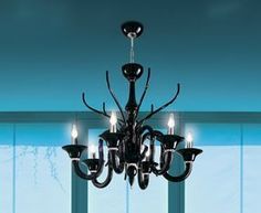 """BELZEBÙ L6 SUSPENSION - <p style=""""text-align: justify;""""> This chandelier is bold and stylist entirely handmade blown glass arms and bowls suspended by a hidden polished chrome structure. Available in the following colors: Fume', Black and Milky White. Companion wall as well as larger size chandelier also available.</p>"""