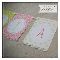 Banderines personalizados. Pedilos a hola@invita-me.com.ar