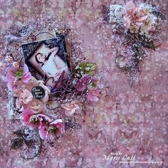 """14 Likes, 1 Comments - Vanessa Tiberti (@2craftychipboard) on Instagram: """"Today we have Mary on the blog and she has created this gorgeous layout with a whimsical feel.  For…"""""""