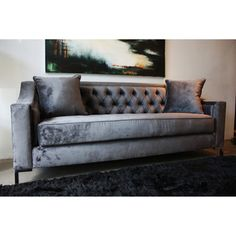 @Overstock - This Decenni Taglia tufted loveseat supplies firm seating with clean modern lines in  sc 1 st  Pinterest : 8 ft sectional sofa - Sectionals, Sofas & Couches