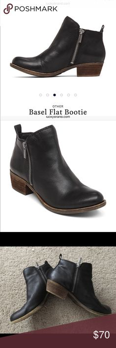 Basel Boots Lucky Brand Size 9 Black Basel Boots (soft leather) from Lucky Brand. Size 9. They run small. If you normally a 8.5 this is for you! Only worn once! Lucky Brand Shoes Ankle Boots & Booties