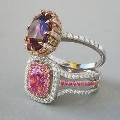 I hope these pink sapphire and brown zircon #diamondrings will keep you warm today! #pinksapphire #brownzircon