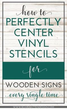 Tired of crooked, off center designs on your wood signs? Try this foolproof, simple way to get perfectly centered vinyl stencils, every single time.