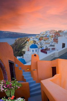 Sunset, Santorini, Greece  ♥ ♥ www.paintingyouwithwords.com