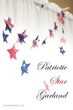DIY Paper Garland : DIY Patriotic Paper Garland