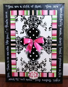 Damask Cross Canvas With Scripture by sweetchiccreations on Etsy Diy Wall Art, Diy Art, Art Projects, Projects To Try, Cross Art, Arts And Crafts, Diy Crafts, Cross Paintings, Pictures To Paint