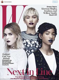 Next in line: Kiernan graced the cover of W Magazine in March, as she spoke about her fashion sense and her Mad Men days along with Zendaya and Willow Smith