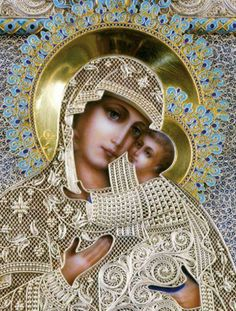Our Lady of Perpetual Help - Religious Cross Stitch Pattern by Cross Stitch Collectibles Blessed Mother Mary, Divine Mother, Blessed Virgin Mary, Religious Pictures, Religious Icons, Religious Art, Religious Cross Stitch Patterns, Religion, Queen Of Heaven