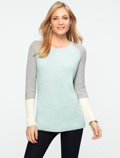 Talbots - Colorblocked Sweater | Sweaters |
