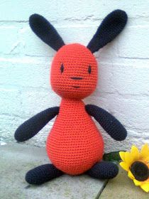 Free pattern in English.Bunny Flop is character from cartoon.I made my first Flop by order and I'd like to share the pattern with you.Pattern is very simple,. Crochet Animal Patterns, Stuffed Animal Patterns, Amigurumi Patterns, Crochet Bunny, Crochet For Kids, Crochet Dolls, Bing Bunny, Tutorial Amigurumi, Magic Ring Crochet