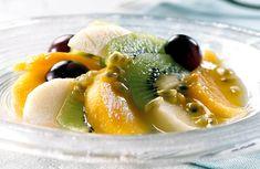 Deilig og forfriskende dessert som passer bra i sommervarmen! Cantaloupe, Shrimp, Meat, Desserts, Food, Beef, Meal, Deserts, Essen