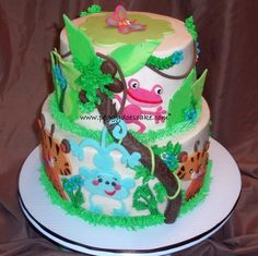 Fisher Price Rainforest Baby Shower Cake